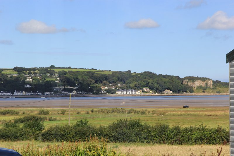 Beautiful views of Traeth Coch/ Red Wharf Bay from the caravan.