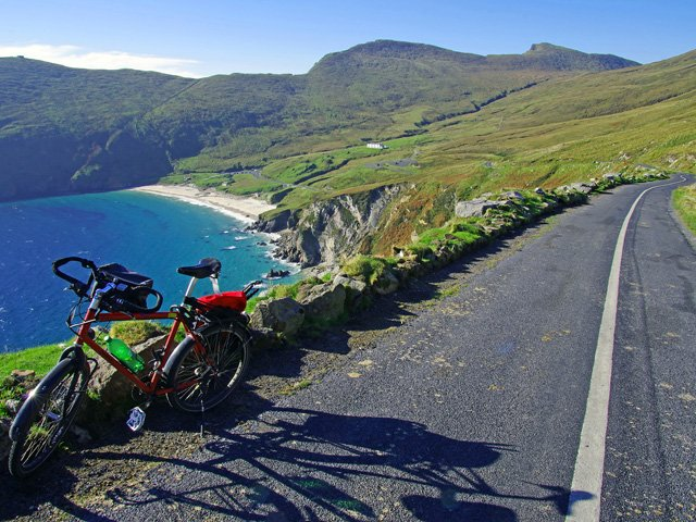 The road to Keem Beach, Achill Island