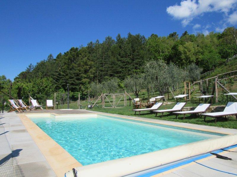 The swimming pool of Casa Conti Apartment Resort