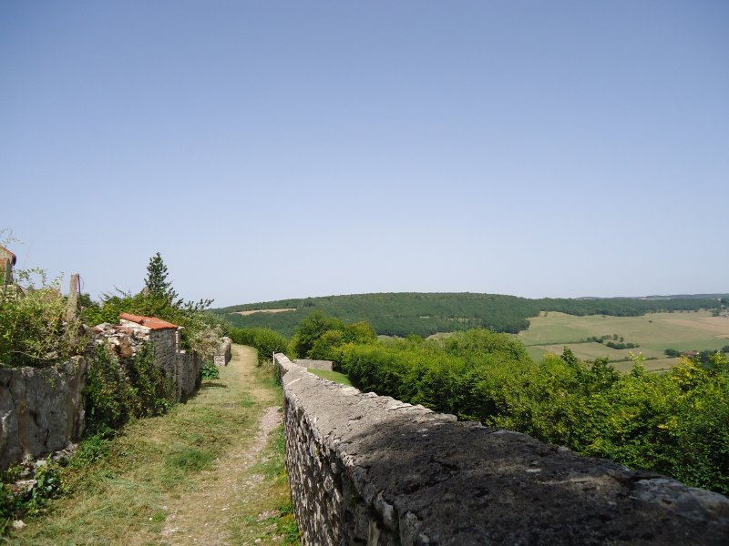 On the ramparts of the village.
