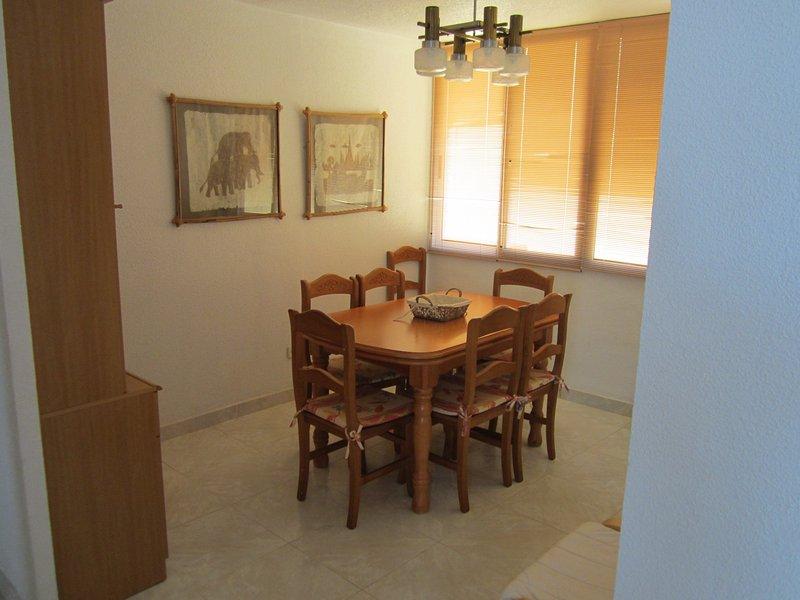 le sette sedie da pranzo separata e tavolo allungabile