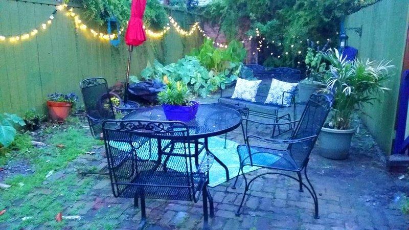 Su área de patio patio