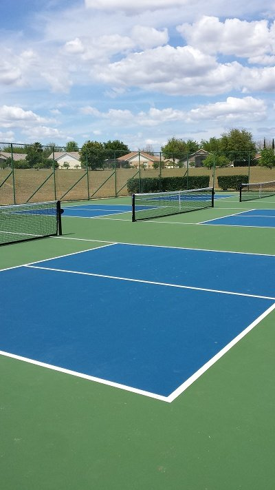 Orange tree pickle ball courts free to use, we supply bats and balls
