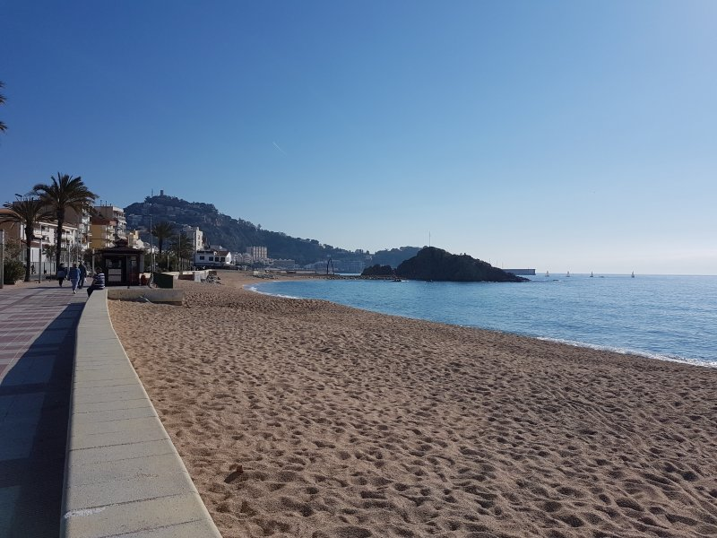 Playa S'Abanell with background Palomera