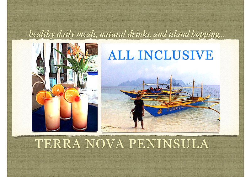 Bem-vindo à Terra Nova - El Nido Privada Beachfront Resort (Villa # 1) - Com All-Inclusive Package