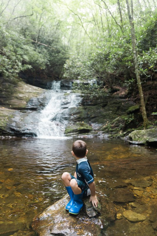 Swimming hole at Laurel Falls in Franklin