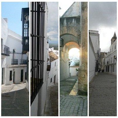 Algumas das ruas onde caminhar Vejer