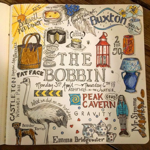A wonderful doodle by one of our lovely, very talented guests!