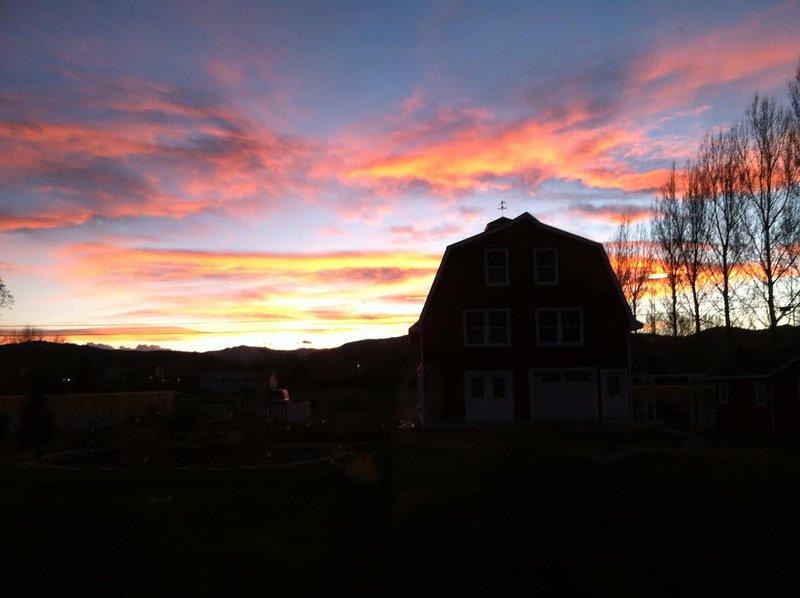 Imagínese las puestas de sol.