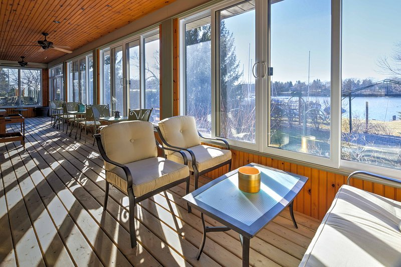 A getaway awaits you at 'MacDonnell's Landing,' a lakefront property in Picton.