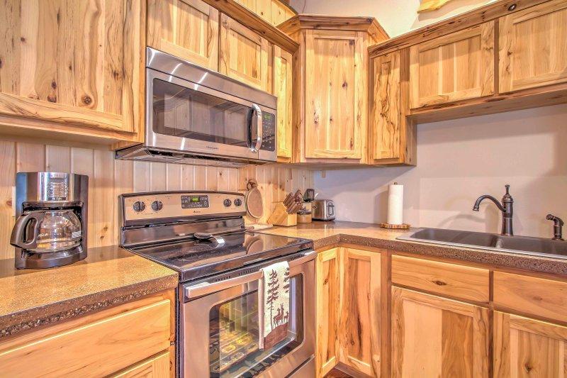 Esta cocina es ideal para preparar deliciosas comidas.