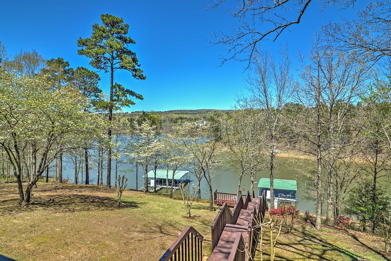 Head to the lake when you book this stunning Edgemont vacation rental house.