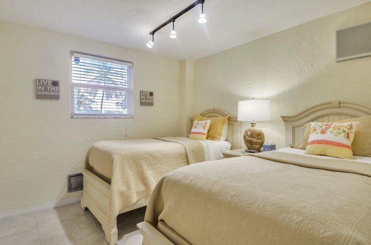 Ground Level Twin Guest Bedroom
