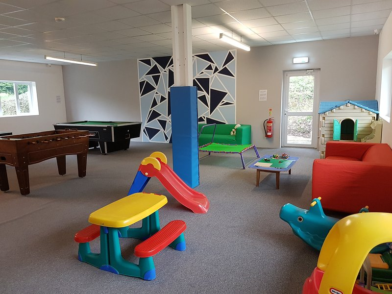 Games room with pool table, table tennis, small childrens area and wifi