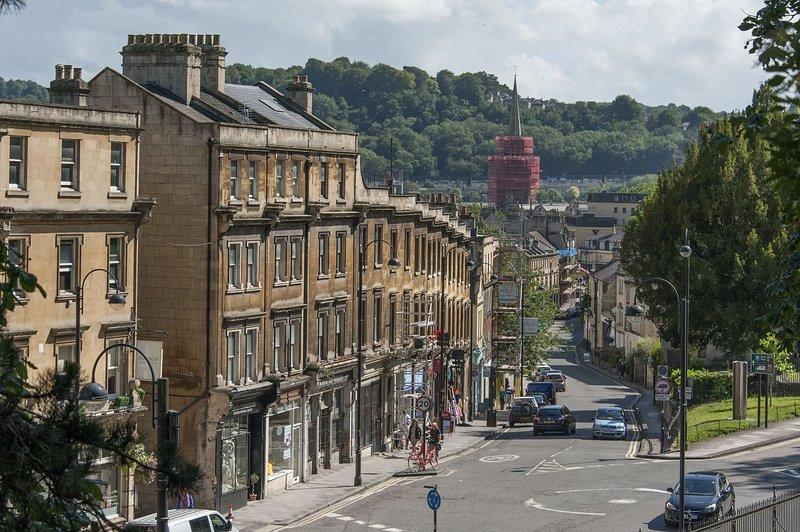 Der Blick von Hedgemead Court in Zentrum von Bath
