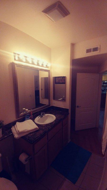 Elegant bathroom . Towels included.