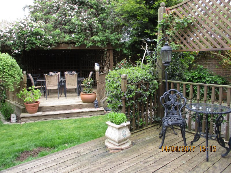Garden seating area