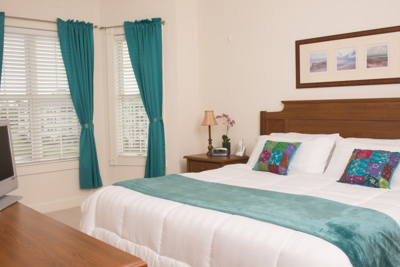 Master bedroom with 1 King and 1 single bed