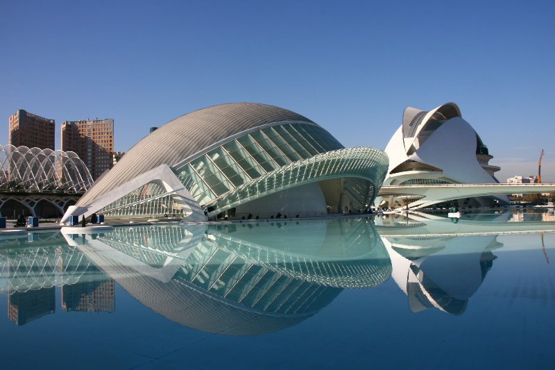 City of Arts and Sciences, at the end of the Garden of Turia