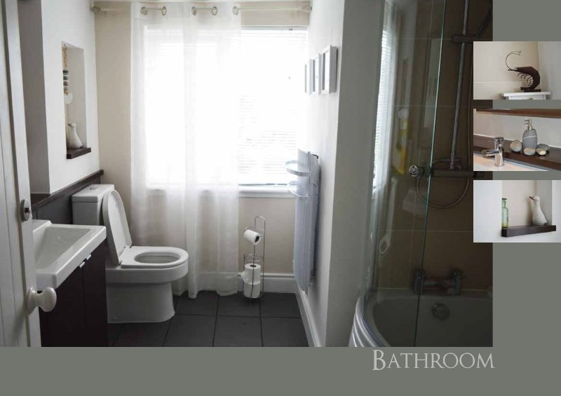 moderno cuarto de baño con ducha de hidromasaje baño sobre