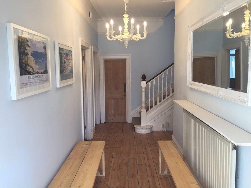 Coastal-style spacious entrance hallway