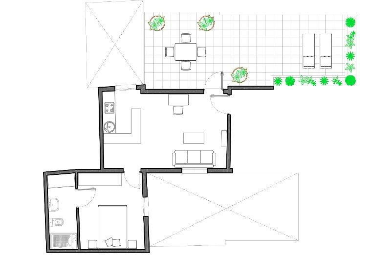 45m² + 33m² terraza | segundo piso | sin ascensor