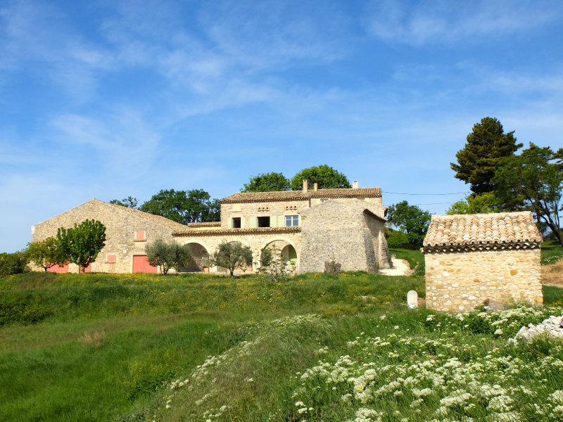 View of the house in Provencal countryside