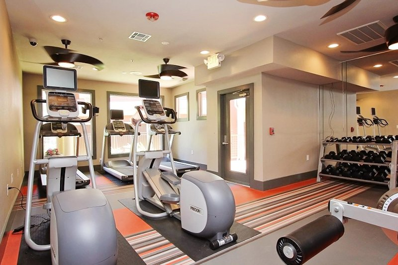 24/7 fitness center with upgraded/added equipment