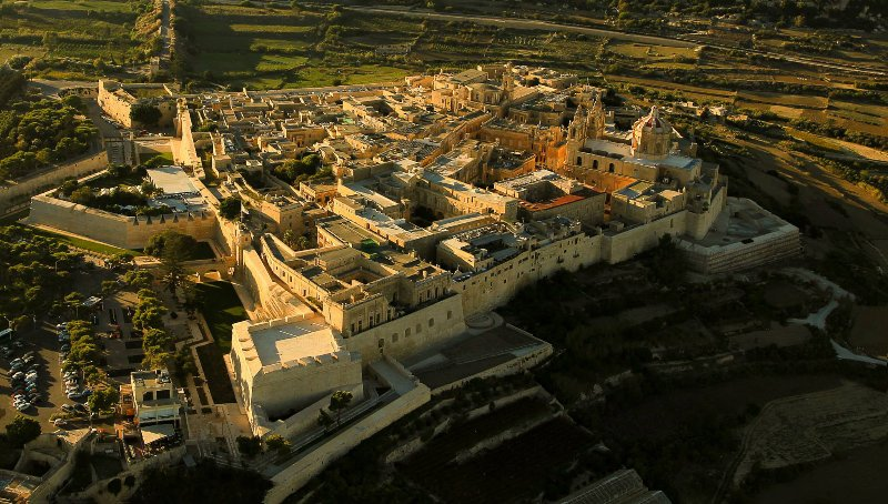 Panorama view of Mdina