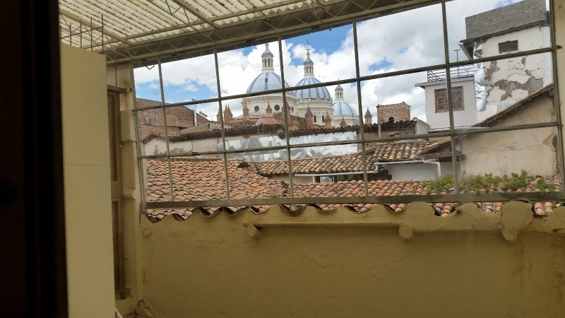 Blick vom Wohnzimmer-Fenster.