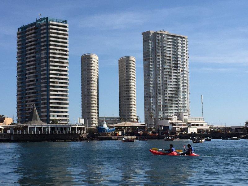 Vista del edificio desde el mar