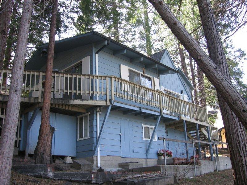 Deck, Porch, Building, Cottage, House