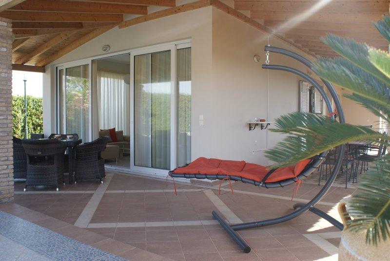 Patio, exterior lounge area