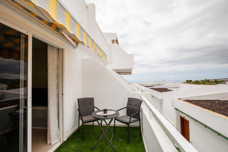 terraza con la vista al mar
