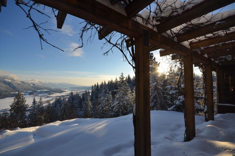 La vista desde la cubierta en el invierno.