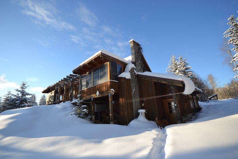 Las maravillas de invierno. Lavender House se encuentra a 10 min de las pistas de esquí nórdico de alerce Hill!