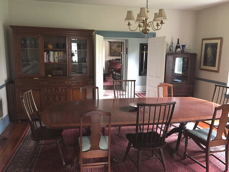 Dining room with ample seating for 12.