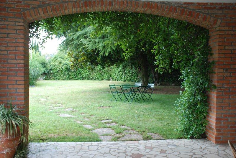 Jardín Sur desde el porche