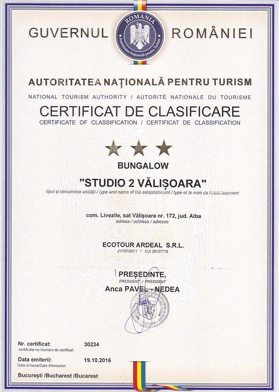 Certificado de Clasificación