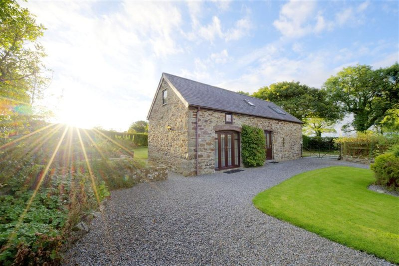 Set on a working small holding, a detached barn conversion.