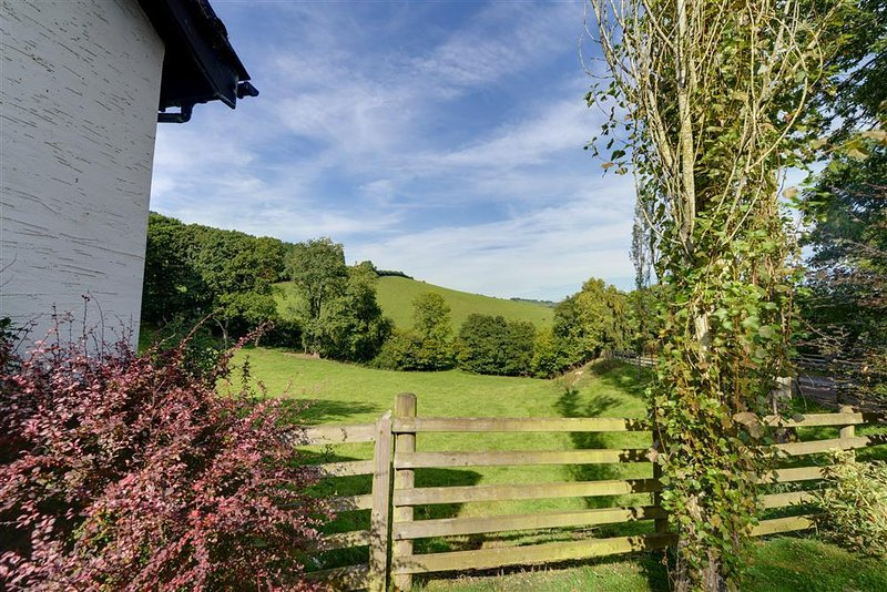The rural views from the cottage make for a stunning setting