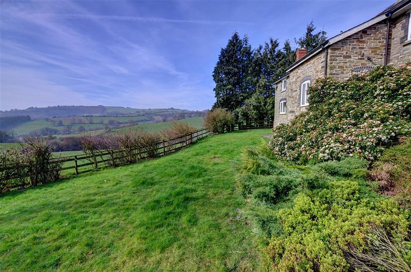The house has lovely views over unspoilt Mid Wales countryside