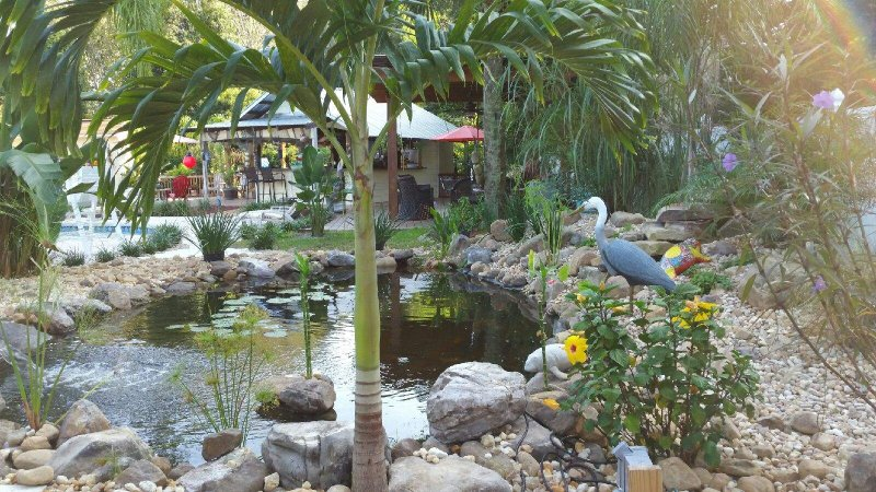 Master Suite con vista Koi Pond
