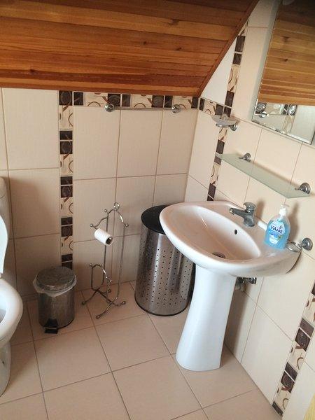 Uno de los 2 baños con dos con ducha y otro con bañera
