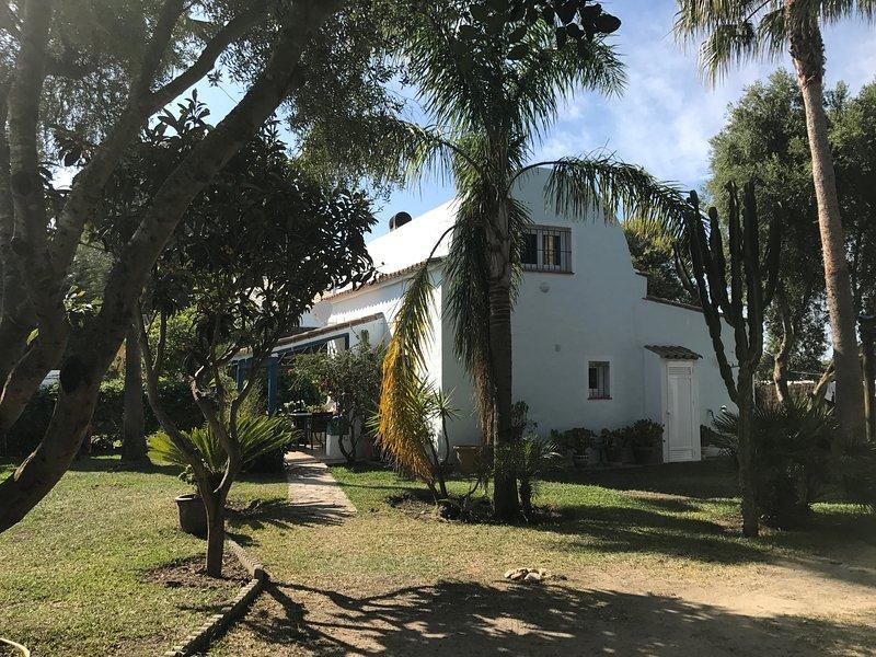 Vista della casa dall'ingresso