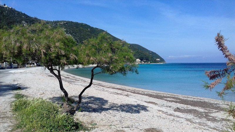 A praia em frente