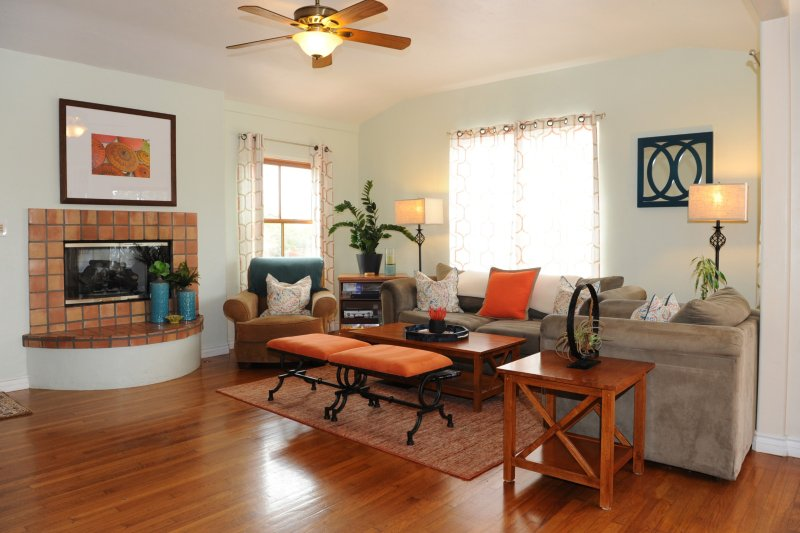 New interior design provides additional warmth and character to this Spanish style home.  Enjoy it!!