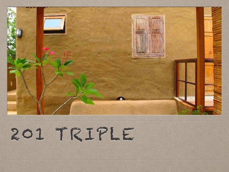 201 Chambre triple avec 1 lit king + 1 lit simple pour 3 invité
