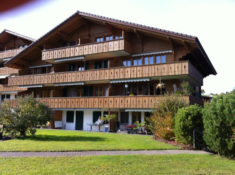 Sea Breeze - 2.5 room apartment with lake view Chalet in Faulensee