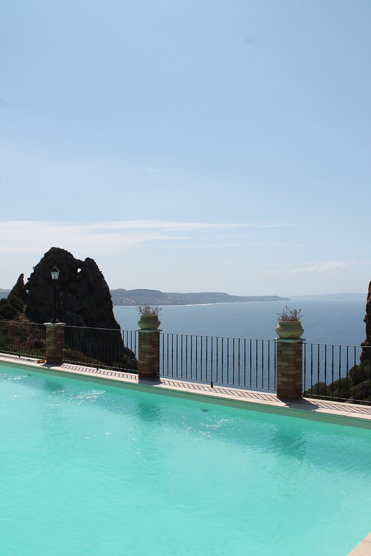 vista del mare dalla piscina/ panoramic view from the pool
